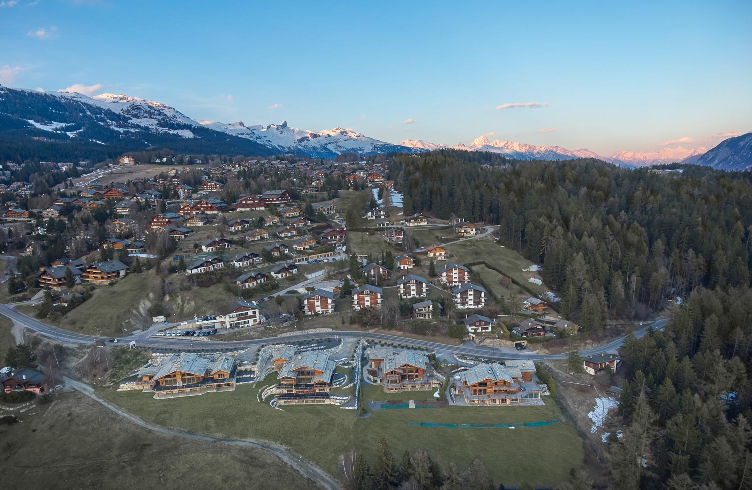 Chalets Aerial